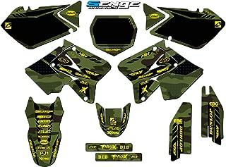 Senge Graphics kit compatible with Suzuki 2001-2014 RM 125/250, Apache Matte Green (MATTE FINISH) Complete graphics kit.