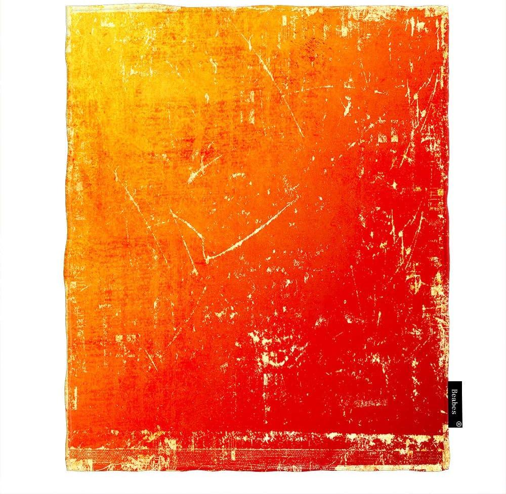 Beabes Grunge Orange Scratch supreme Text Dirt Blanket Throw Retro Crack Las Vegas Mall