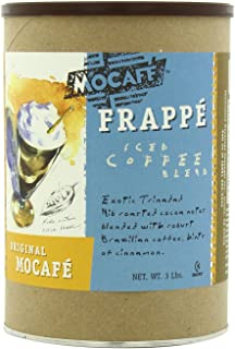 MOCAFE Frappe Original MOCAFE Ice Blended Coffee, 3-Pound Tin Instant Frappe Mix, Coffee House Style Blended Drink Used in Coffee Shops