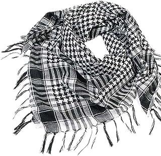 UJUNAOR Unisex Fashion Women Men Arab Palestine Scarf Houndstooth Large Square Shawl Wrap