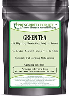 Green Tea - 45% EGCg (Epigallocatechin Gallate) Natural Leaf Extract Powder (Camellia sinensis), 1 kg