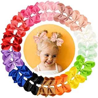 """30pcs Hair Bows for Girls 3""""Grosgrain Ribbon Boutique Bow Alligator Clips Hair Barrettes Accessories for Little Girls todd..."""