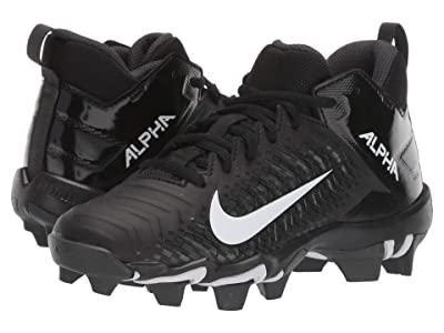 Nike Kids Alpha Menace 2 Shark Football (Toddler/Little Kid/Big Kid) (Black/White/Anthracite) Kids Shoes