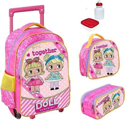 f5a6aa146 Kit Mochila Infantil Doll Surprise Com Lancheira E Estojo