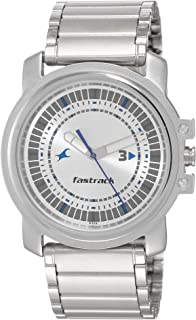 Fastrack Men's 3039SM03 Casual Silver Metal Strap Watch