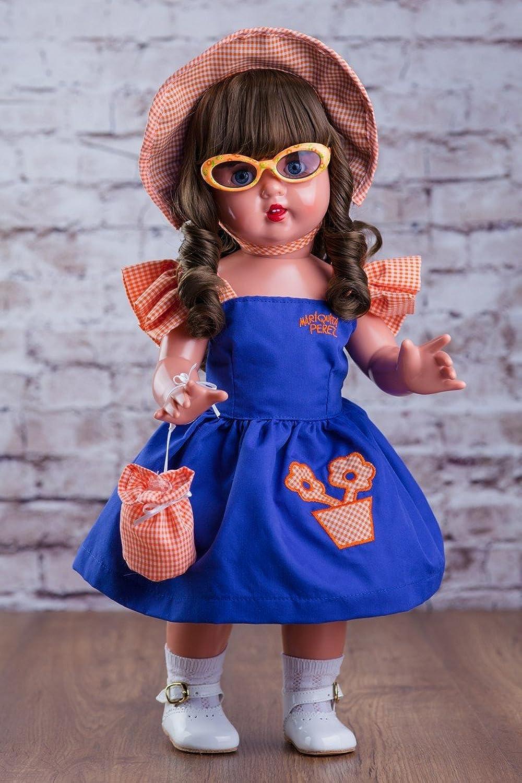autorización Mariquita Mariquita Mariquita Pérez - Vestido Capota y Gafas Sol, Color Azul (MP50002)  más vendido