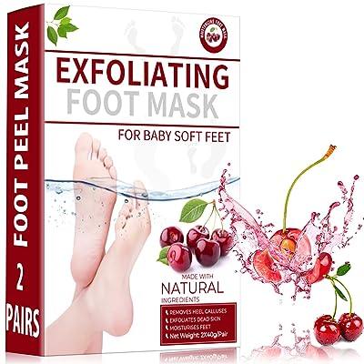 Sexrov Foot Peel Mask 2 Pack for Cracked Heels