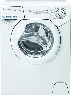 Candy AQUAMATIC AQUA 104LE/2-S Waschmaschine / 4 kg/Raumsparwaschmaschine/Symbolblende/Edelstahltrommel, Weiß