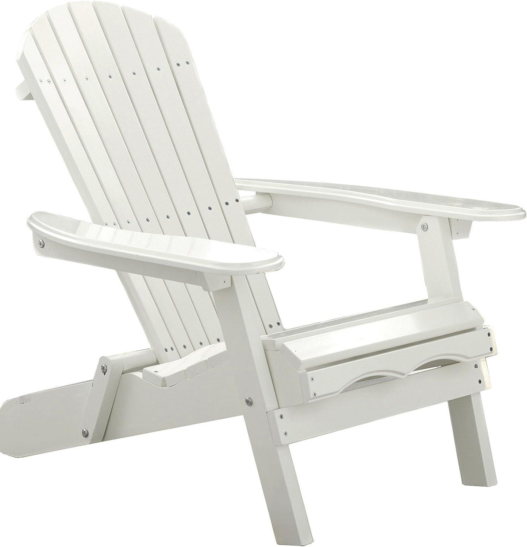 Merry Garden Foldable Wooden Adirondack Luxury Chair Outdoor Deluxe