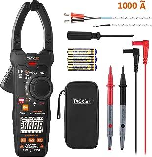 TACKLIFE Pinza Multímetro, CM04 Amperímetro Profesional 6000 Counts 1000A detección de Voltaje sin Contacto (NCV), True RMS, VFD/LOZ, Temperatura, Corriente/Voltaje de CA, Resistencia, frecuencia
