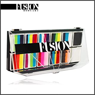FUSION BODY ART Pro Quality Professional Spectrum Face Painting Palette - Rainbow Explosion | Hypoallergenic Safe & Non-Toxic - Perfect for Full Face Designs and Cheek Art | US FDA and EU compliant