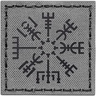 Vegvisir Viking Compass A-TACS AU arid embroidered morale hook/&loop patch