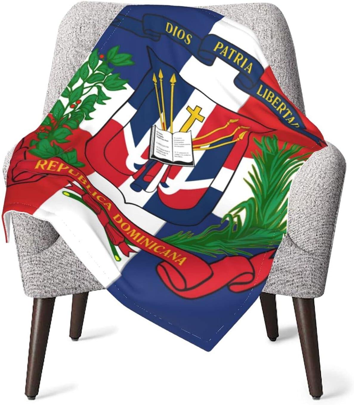 JZDACH Unisex Baby Receiving Dominican Max 73% OFF I Flag Blankets Republic Atlanta Mall