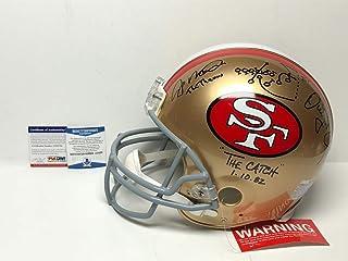 Joe Montana   Dwight Clark Autographed Signed San Francisco 49ers Full Size  Proline Helmet Bas  8268aee9f