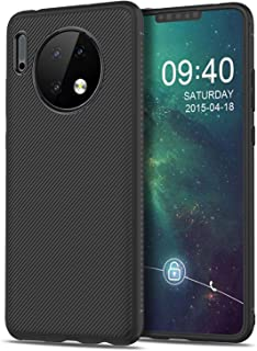 Huawei Mate 30 Pro Case,Slim Soft Shockproof Case with Flexible TPU Silicone Hybrid Protective Case Carbon Fiber Case for ...