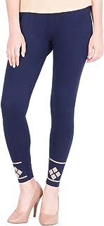American-Elm Women's Stylish Ankle length Legging- Dark Blue