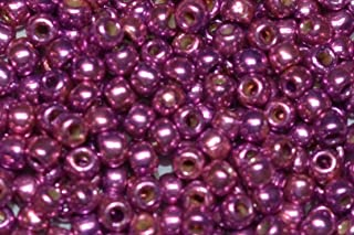10g Toho Seeds Beads 110 Gold Lustered Matte Plum Frosted Lilac TR-11-625F Toho Rocailles size 11 pink rose mauve lilac lavender rainbow