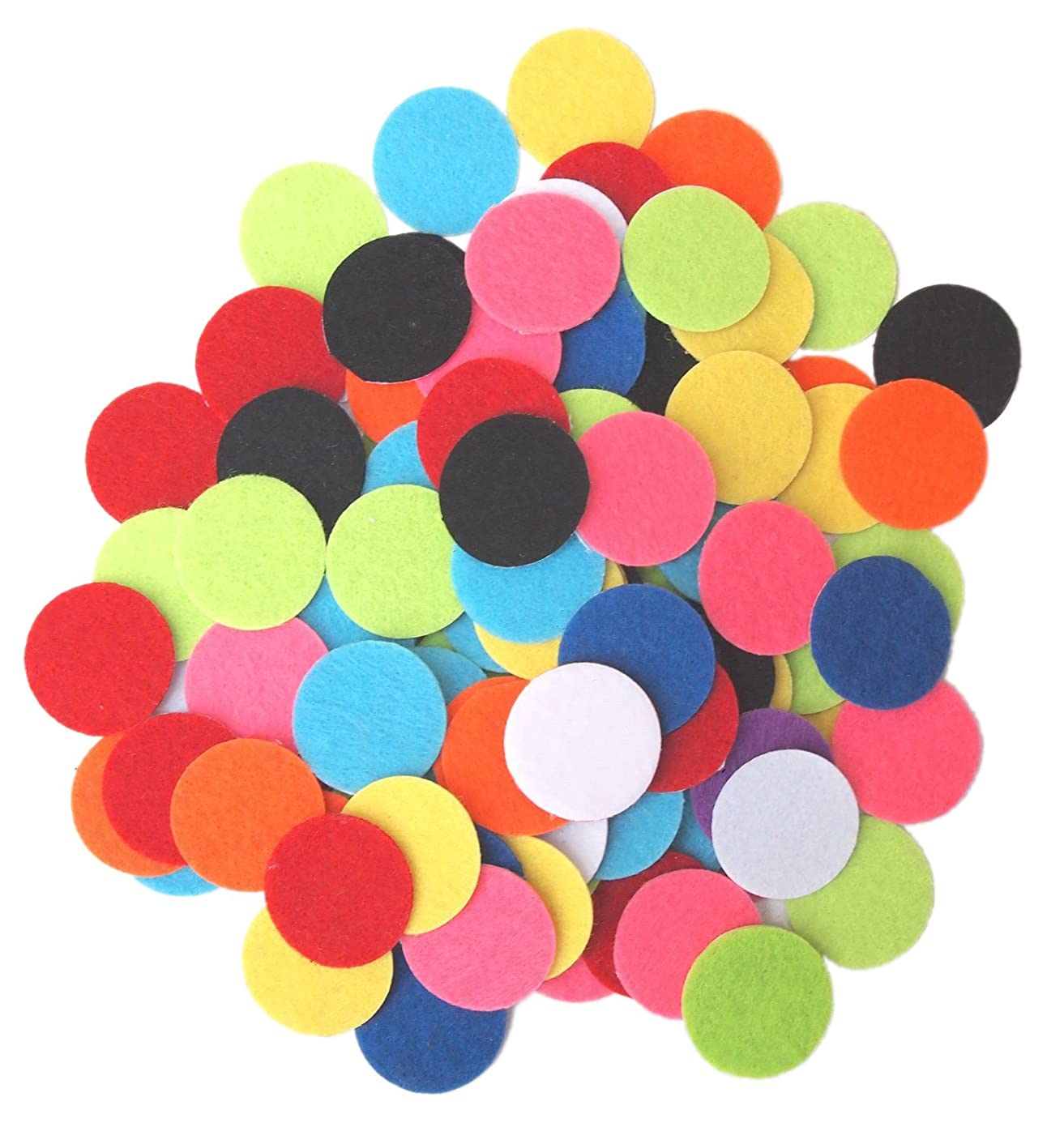 Playfully Ever After 1 inch Mixed Color Assortment 100pc Felt Circle Stickers vklecbjs45417487