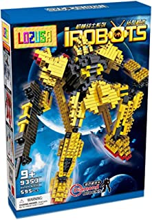 LOZUSA i-Robot 595 PCS Diamond Block Q162Mini Figure Hero Micro Blocks Construction Model, Micro-Sized Building Set Parent-Child Games Building Blocks Children's Educational Toys