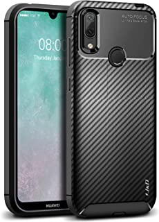 J&D Compatible para Huawei Y7 2019/Y7 Pro 2019/Y7 Prime 2019 Funda, [Fibra Carbono] [Parachoques Ligero] Resistente Funda TPU Protectora e Anti-Scratch Blando Funda para Huawei Y7 2019