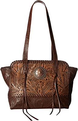 American West - Annie's Secret Zip Top Tote w/ Secret Compartment