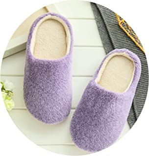 Interior House Plush Soft Cute Cotton Slippers Shoes Non-Slip Floor Furry Slippers for Bedroom