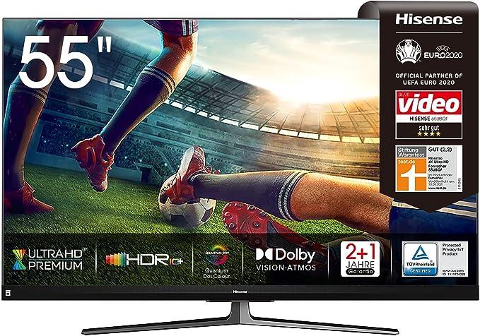 55 Zoll 4K-Fernseher bis 1000 Euro Test Hisense