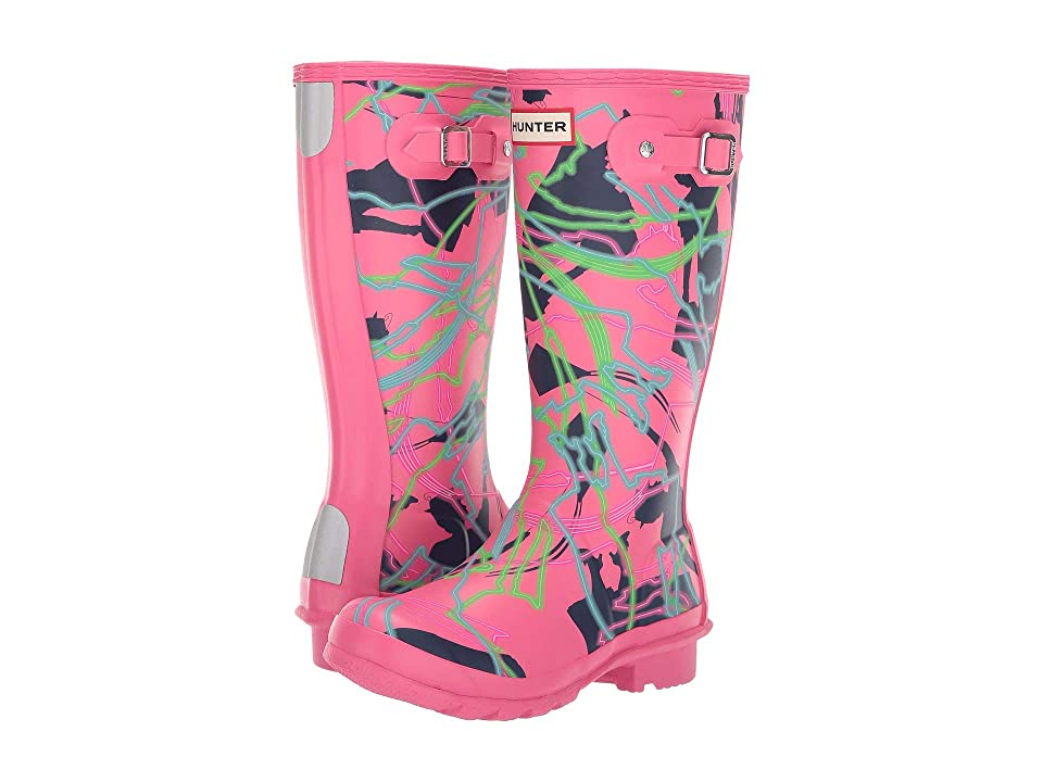 Hunter Kids Disney(r) Mary Poppins Original Wellington Rain Boot (Little Kid/Big Kid) (Arcade Pink Bright Camo Print) Girls Shoes