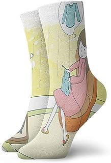 BEDKKJY, Calcetines Deportivos Mujer Embarazada Jersey de Punto Diseñador Unisex Bota Corta Media Calcetín de Vacaciones Liquidación para niños