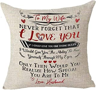Best Anniversary Gifts For Lover Wife Nordic Sweet Warm Funny Sayings Together We Make A Family Retro Background Cotton Linen Decorative Throw Pillow Case Cushion Cover Square 18 X 18 Inches