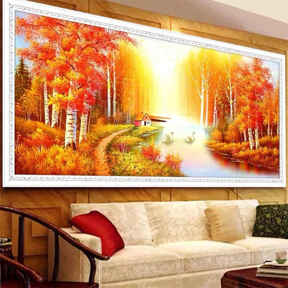 Diamond Painting Kits for OFFicial 25% OFF store Adults Kids Autumn Trees Art