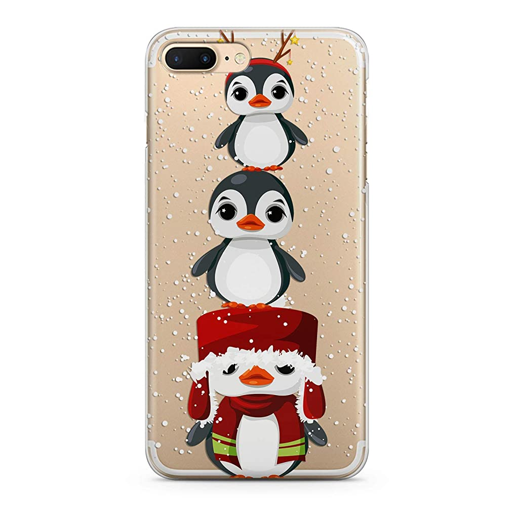 Lex Altern TPU Case for iPhone Apple Xs Max Xr 10 X 8+ 7 6s 6 SE 5s 5 Penguins Year Cute Baby Girl Slim fit Happy Gift Lightweight Cover Child Smooth Print Animal Design Clear Flexible Soft Winter