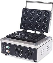 Yunrux Machine à donuts électrique avec 12 grilles anti-adhésive pour muffin et cupcakes 1500 W