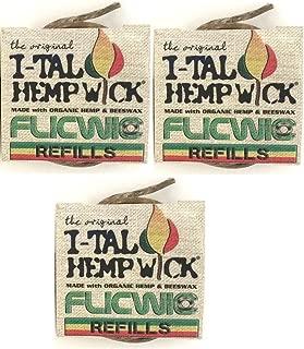 FlicWic Hemp Wick Refill for Flic Wick Dispensers, 12' Spool - 3-Pack