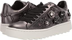 코치 C101 로우 탑 스니커즈 COACH C101 Low Top Sneaker,Gunmetal