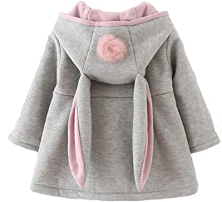 Avidqueen Cute Toddler Baby Girl's Kids Fall Winter Coat Jacket Outerwear Ears Hood Hoodie