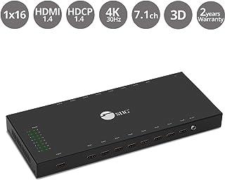 SIIG 1x16 HDMI Splitter - 4K x 2K @30Hz & 1080p, HDMI 1.4 Deep Color, 3D, Plug & Play, Auto EDID, 16-Port HDMI Splitter 4K - (CE-H24Q11-S1)