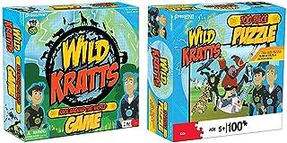 "Pressman Wild Kratts Race Around The World Board Game & 10795-06 Wild Kratts Puzzle in Box, 100 Piece, 5"", Multi-Color"
