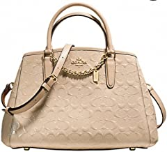 Coach SMALL MARGOT CARRYALL IN SIGNATURE DEBOSSED PATENT LEATHER