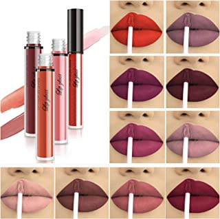 10pcs/Set Makeup Matte Lipstick Lip Kit, Velvety Liquid Lipstick Waterproof Long Lasting Durable Nude Lip Gloss Beauty Cos...