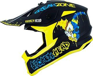Broken Head FreakZone Cross-Helm Blau-Gelb – Motocross – MX – Quad – Supermoto M 57-58 cm