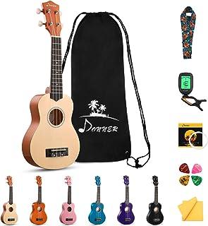 Donner Soprano Ukulele Beginner Kit Ukulele 21 inch Starter Set Kid Child Adult Ukelele Hawaii Guitar with Uke Oneline Les...