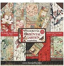 STAMPERIA SBBS09 - Bloc de papel (10 hojas, 20,3 x 20,3 x 8 pulgadas, doble cara), diseño de flores orientales, multicolor