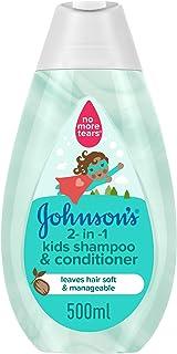 JOHNSON'S 2-in-1 Kids Bath, Shampoo & Conditioner, 500ml