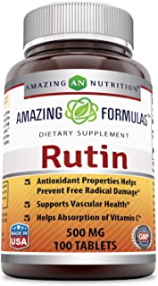Amazing Formulas Rutin - 500mg, Tablets (Non-GMO,Gluten Free ) - Antioxidant Properties - Helps Absorption of Vitamin C - ...