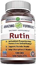 Amazing Formulas Rutin - 500mg, Tablets (Non-GMO,Gluten Free ) - Antioxidant Properties - Helps Absorption of Vitamin C - ...