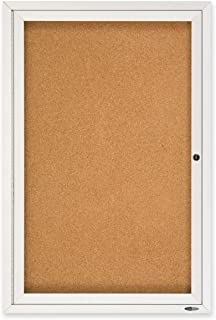 Quartet Enclosed Cork Indoor Bulletin Board, 2 x 3 Feet, Aluminum Frame (2363)