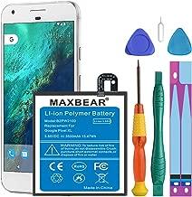 Google Pixel XL Battery,[Upgraded] MAXBEAR 3500mAh Li-Polymer Battery B2PW2100 Replacement for HTC Google Pixel XL (5.5'') Nexus M1 with Repair Screwdriver Kit Tools [12 Month Warranty]
