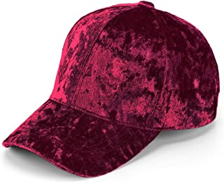 Unisex Crushed Velvet Basketball Hat Adjustable Soft Shining Cap