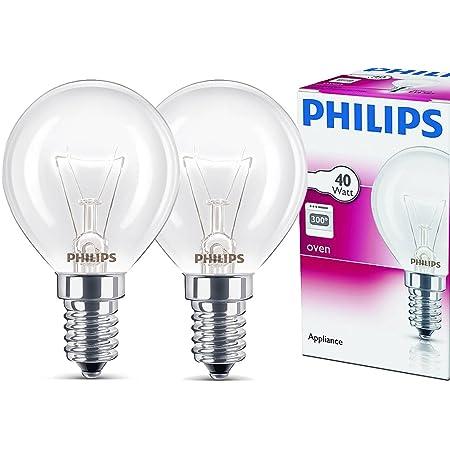 Philips Ampoule E14 40 W Four forme de goutte Diamètre 45 mm, résistantes à max. 300 °C. Lot de 2 blanc chaud